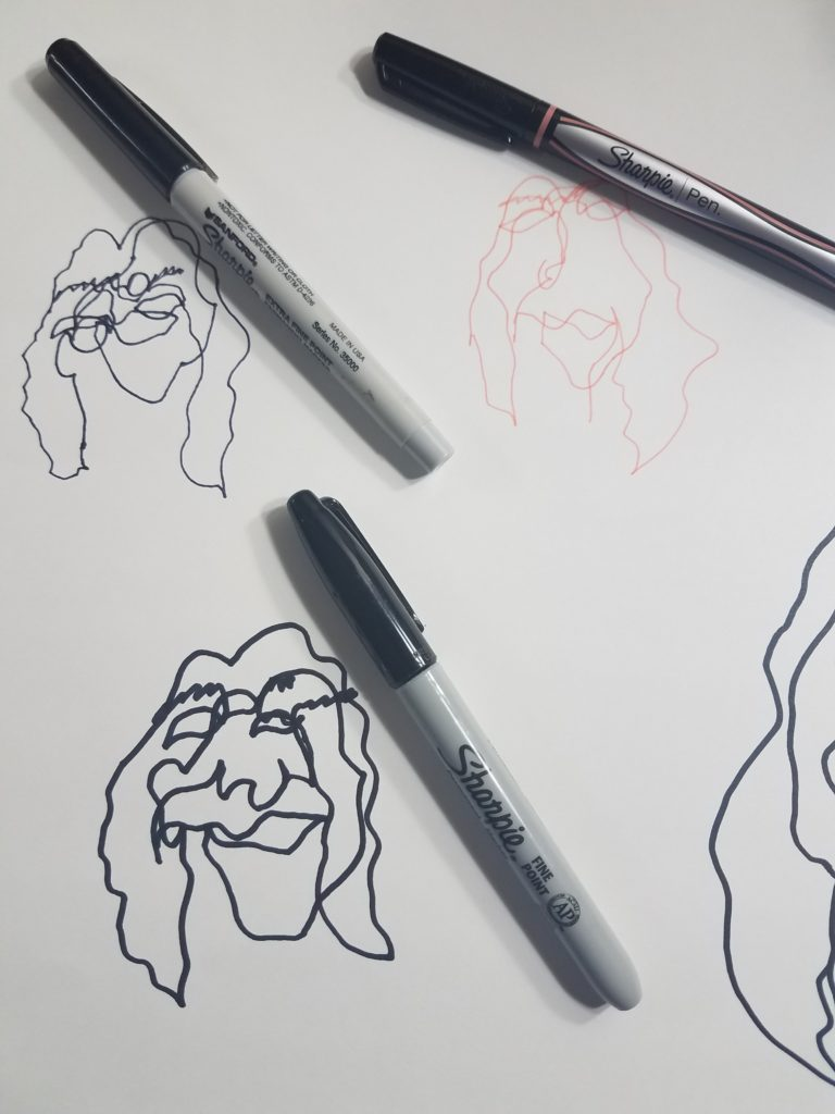 Continuous Line Drawing Face Art Tutorial Art By Ro